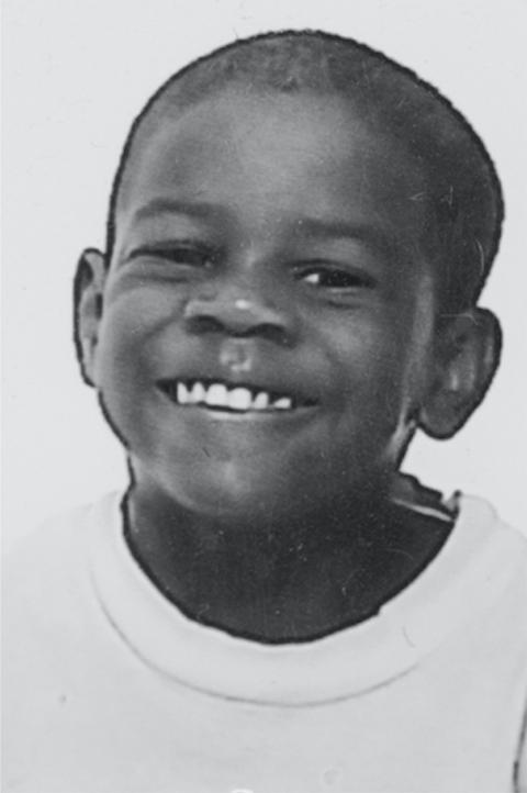 vielle photo de Marc-Henri enfant en noir et blanc